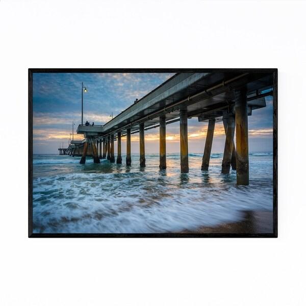 Noir Gallery Venice Beach Pier LA California Framed Art Print
