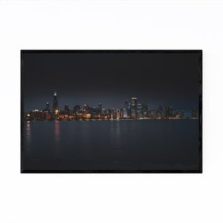 Noir Gallery Chicago Skyline Cityscape Urban Framed Art Print