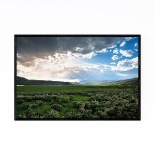 Noir Gallery Yellowstone National Park Geyser Framed Art Print