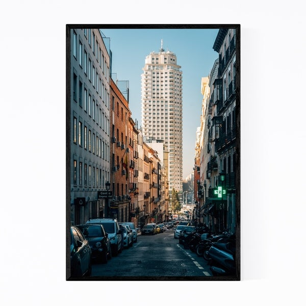 Noir Gallery Madrid Spain Urban Architecture Framed Art Print
