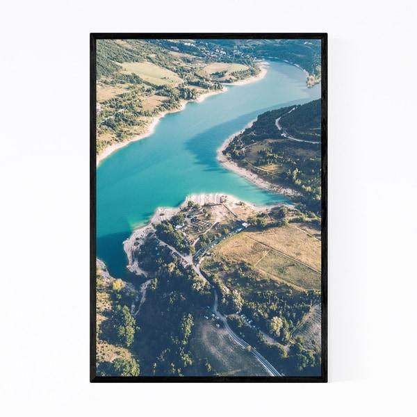 Noir Gallery Fiastra Lake Marche Italy Framed Art Print