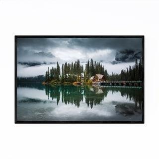 Noir Gallery Yoho National Park Lake Mountain Framed Art Print