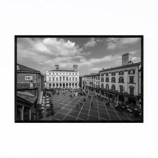 Noir Gallery Black & White Bergamo Italy Framed Art Print
