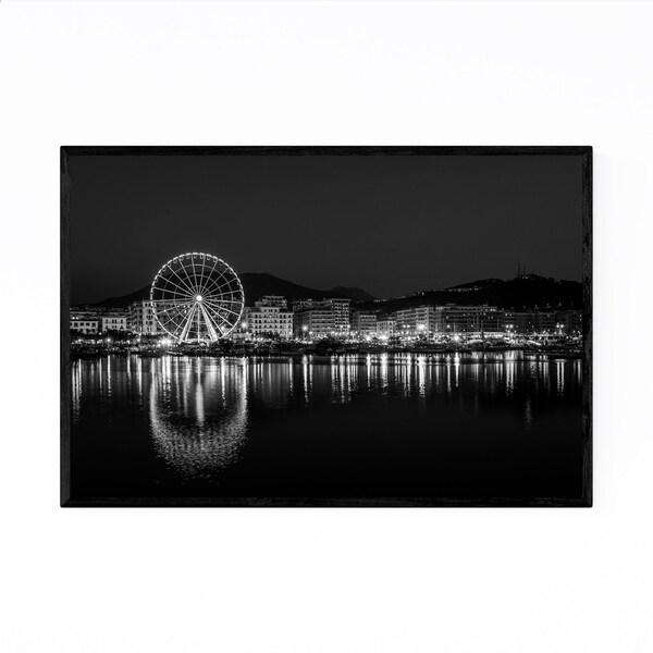 Noir Gallery Black & White Salerno Italy Framed Art Print