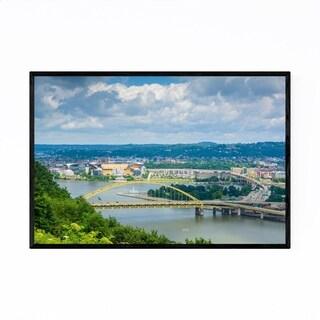 Noir Gallery Pittsburgh Monongahela River Framed Art Print