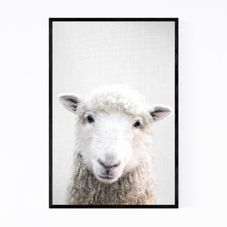 Noir Gallery Sheep Nursery Peeking Animal Framed Art Print