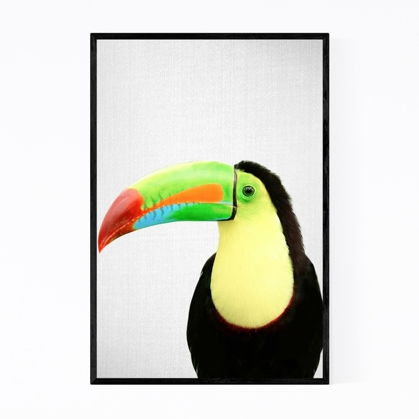 Noir Gallery Toucan Nursery Peeking Animal Framed Art Print