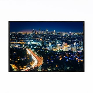 Noir Gallery Los Angeles California Skyline Framed Art Print