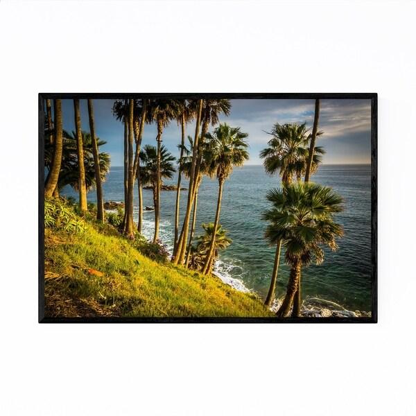 Noir Gallery Palm Trees Laguna Beach Coastal Framed Art Print