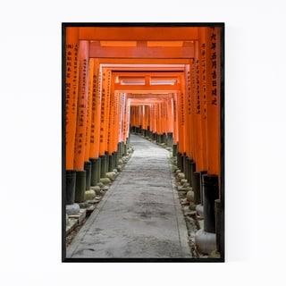 Noir Gallery Kyoto Japan Shrine Photography Framed Art Print