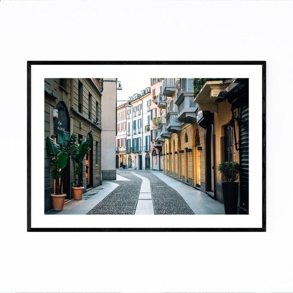Noir Gallery Brera Milan Italy Street Photo Framed Art Print