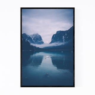 Noir Gallery Toblach Lake South Tyrol Italy Framed Art Print