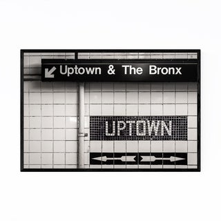 Noir Gallery Uptown Subway Sign New York City Framed Art Print