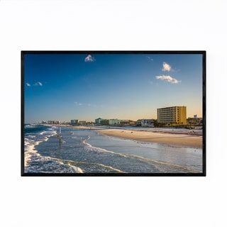 Noir Gallery Daytona Beach, Florida Waves Framed Art Print