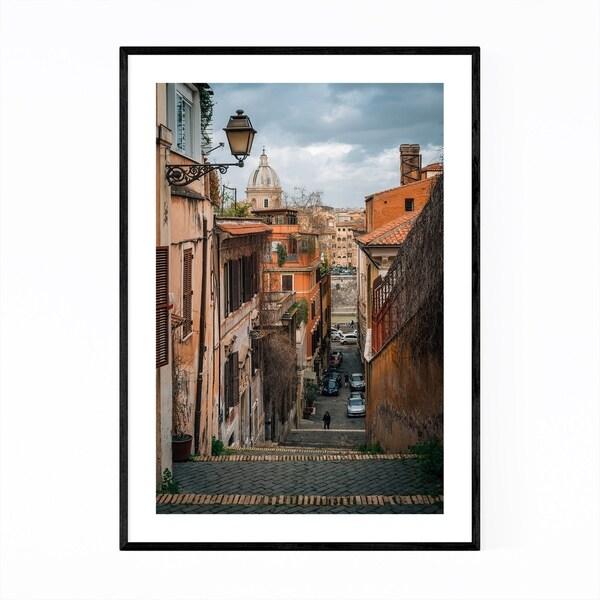 Noir Gallery Rome Italy Trastevere Photo Framed Art Print