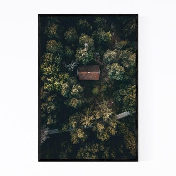 Noir Gallery Sweden Landscape Nature Scenic Framed Art Print