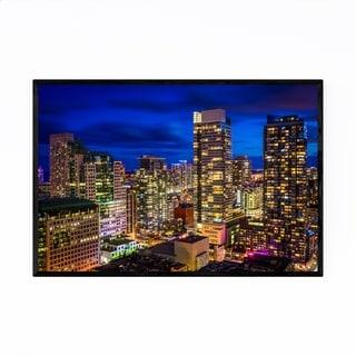 Noir Gallery Toronto Cityscape Urban Skyline Framed Art Print