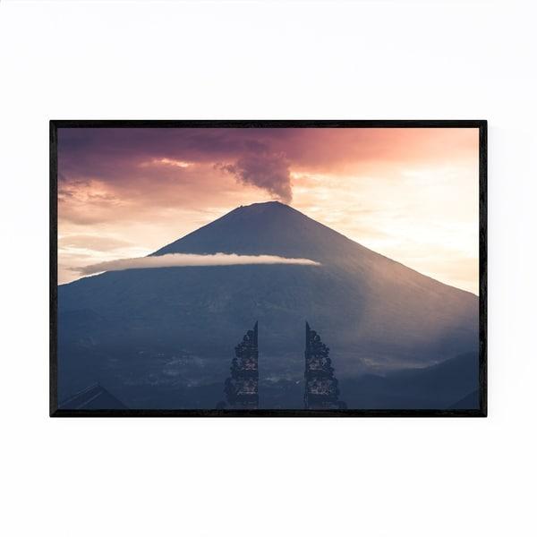 Noir Gallery Volcano Bali Indonesia Landscape Framed Art Print