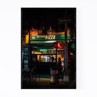 Noir Gallery Pizza Sign East Village NYC Framed Art Print