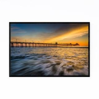 Noir Gallery Imperial Beach Pier California Framed Art Print