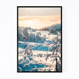 Noir Gallery Sweden Landscape Nature Winter Framed Art Print
