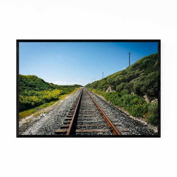 Noir Gallery Davenport California Train Track Framed Art Print