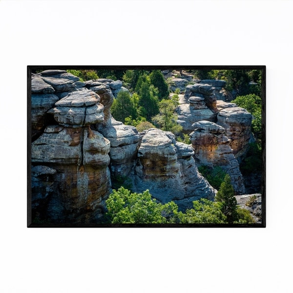 Noir Gallery Gardens of the Gods Illinois Framed Art Print
