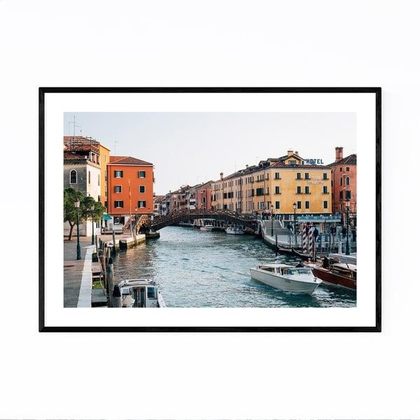 Noir Gallery Venice Italy Canal Photography Framed Art Print