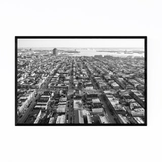 Noir Gallery Black & White Baltimore Canton Framed Art Print