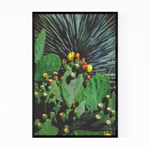 Noir Gallery Cactus Floral Botanical Desert Framed Art Print