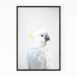 Noir Gallery Cockatoo Bird Peekaboo Animal Framed Art Print