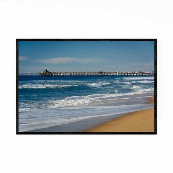 Noir Gallery Beach Pier San Diego California Framed Art Print