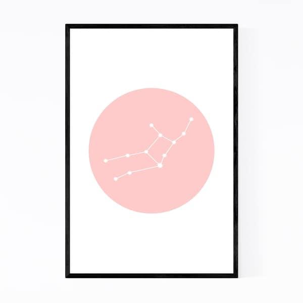 Noir Gallery Pink Virgo Astrology Zodiac Framed Art Print