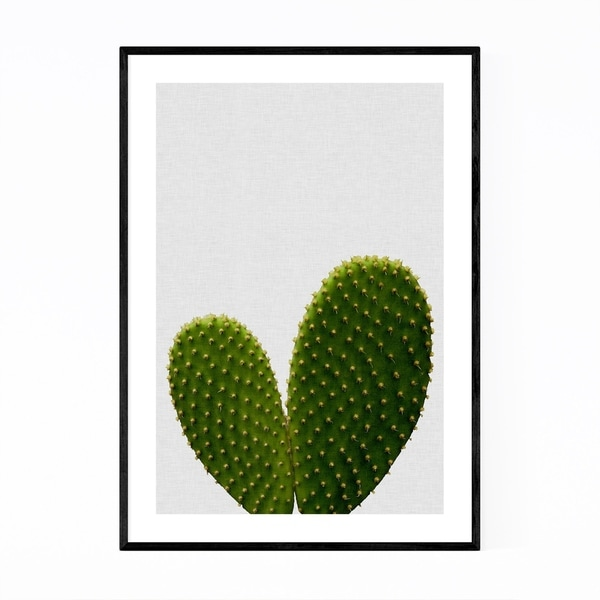 Noir Gallery Love Heart Cactus Photography Framed Art Print
