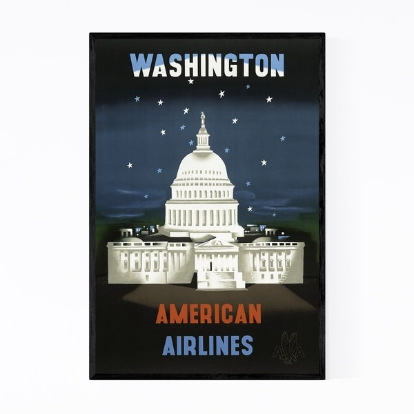 Noir Gallery Washington DC Travel Poster Framed Art Print