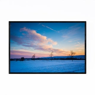 Noir Gallery Frederick Maryland Winter Sunset Framed Art Print