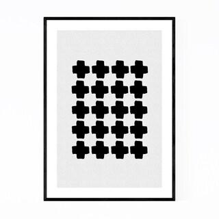 Noir Gallery Minimalist Abstract Geometric Framed Art Print