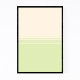 Noir Gallery Minimal Gradient Pastel Green Framed Art Print
