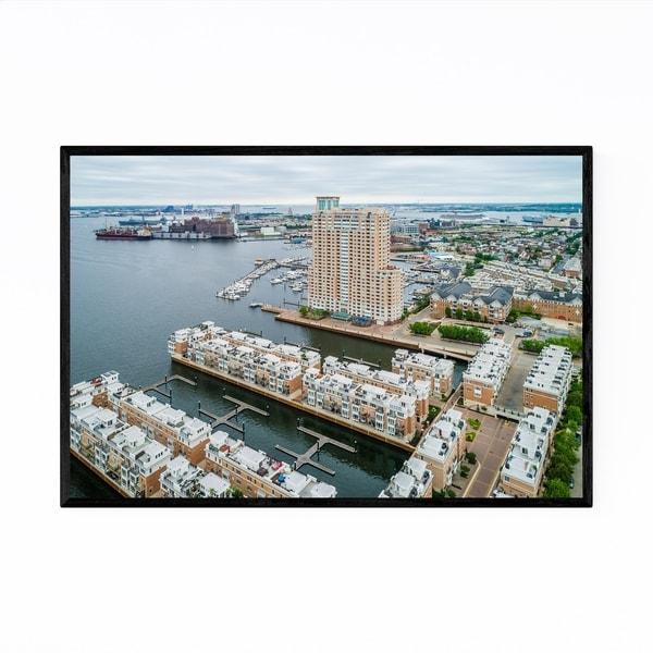 Noir Gallery Inner Harbor Boats Baltimore MD Framed Art Print