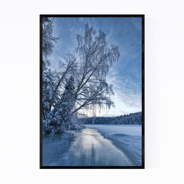 Noir Gallery Winter Snow Trees Sweden Nature Framed Art Print