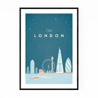 Noir Gallery Minimal Travel Poster London Framed Art Print