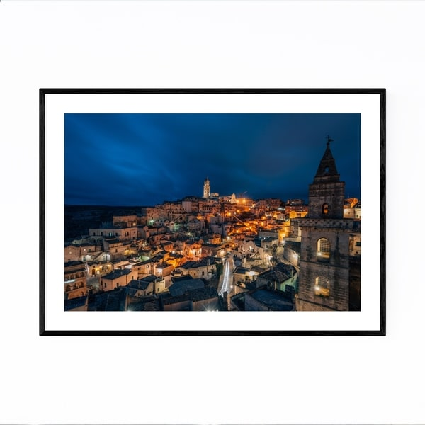 Noir Gallery Sassi Matera Basilicata Italy Framed Art Print