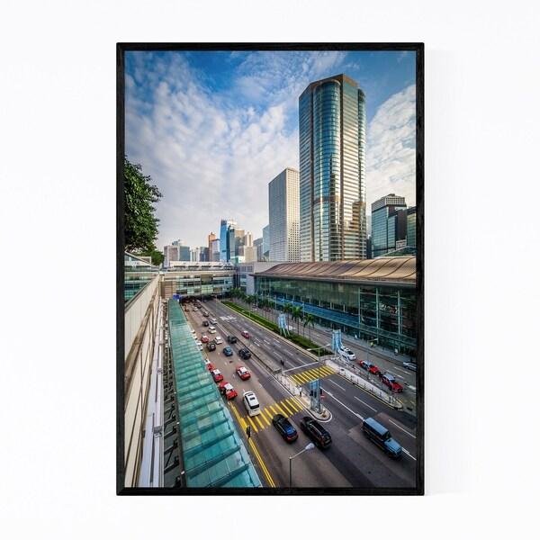 Noir Gallery Hong Kong Modern Urban Cityscape Framed Art Print