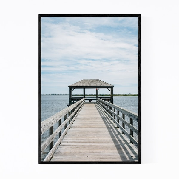 Noir Gallery Somers Point Pier New Jersey Framed Art Print