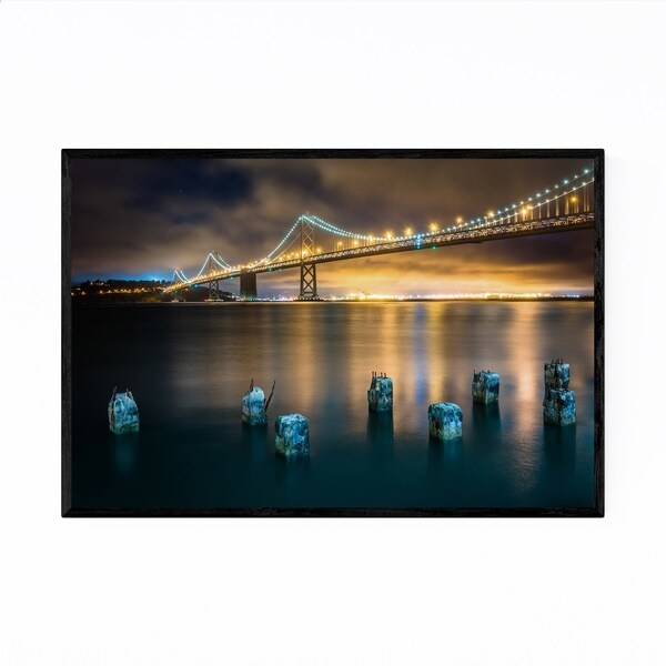 Noir Gallery San Francisco-Oakland Bay Bridge Framed Art Print