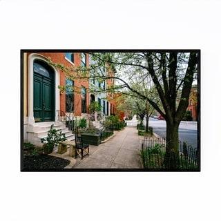 Noir Gallery Bolton Hill Row Houses Baltimore Framed Art Print