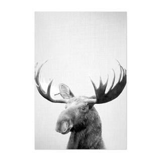 Noir Gallery Moose Peeking Nursery Animal Unframed Art Print/Poster