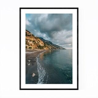Noir Gallery Positano Italy Amalfi Beach Framed Art Print