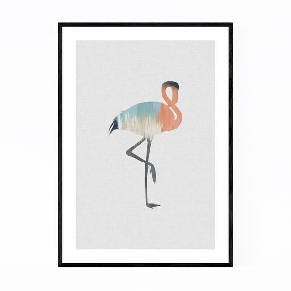 Noir Gallery Pastel Abstract Flamingo Animal Framed Art Print