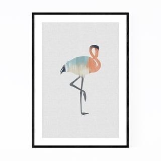 Noir Gallery Pastel Abstract Flamingo Animal Framed Art Print